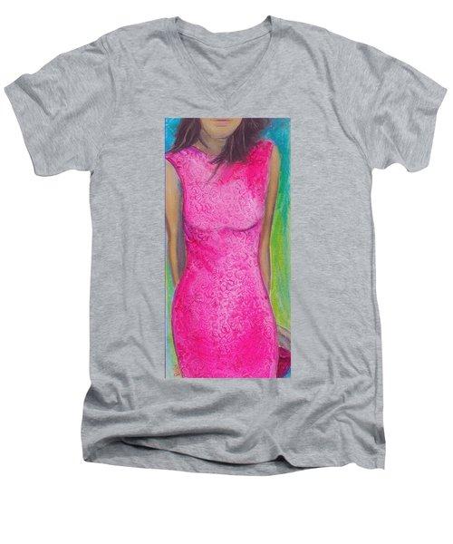 The Pink Dress Men's V-Neck T-Shirt