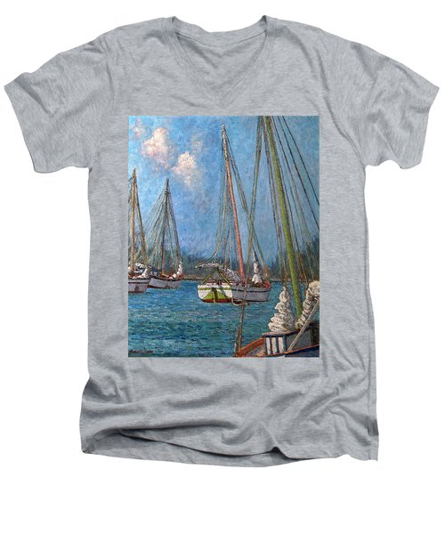 The Pink Mast Men's V-Neck T-Shirt