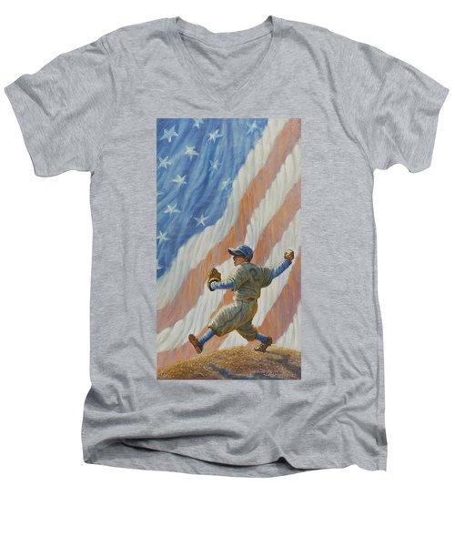 The Pitcher Men's V-Neck T-Shirt