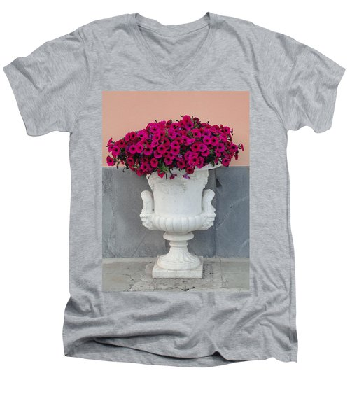 Men's V-Neck T-Shirt featuring the photograph The Planter by Natalie Ortiz