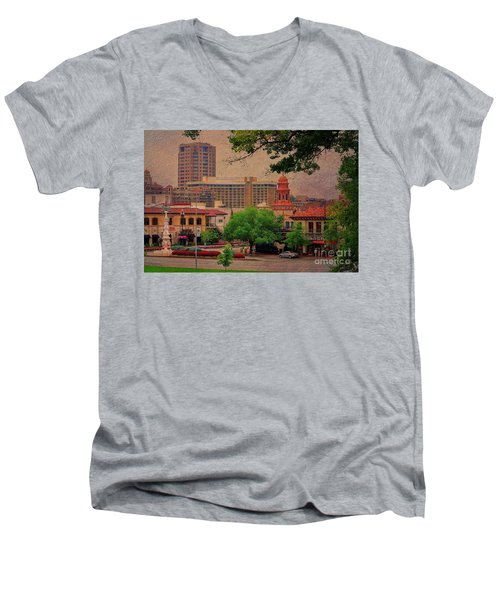 The Plaza - Kansas City Missouri Men's V-Neck T-Shirt