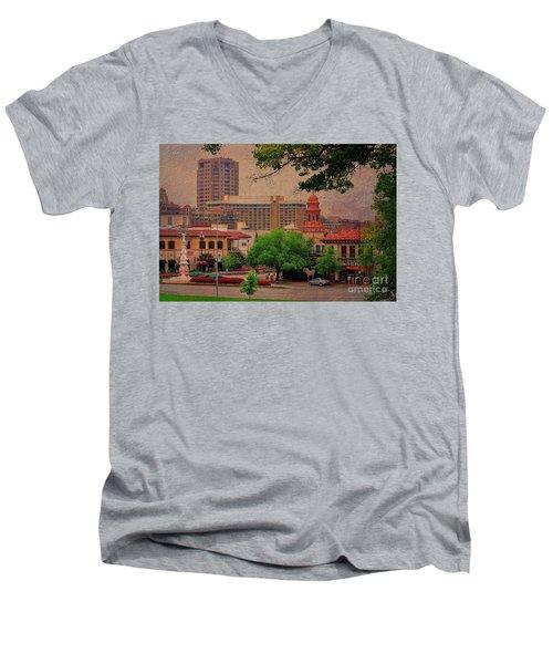 The Plaza - Kansas City Missouri Men's V-Neck T-Shirt by Liane Wright