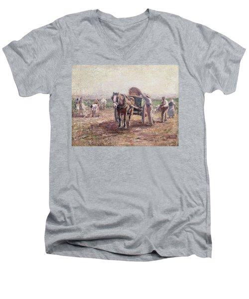 The Potato Pickers Men's V-Neck T-Shirt
