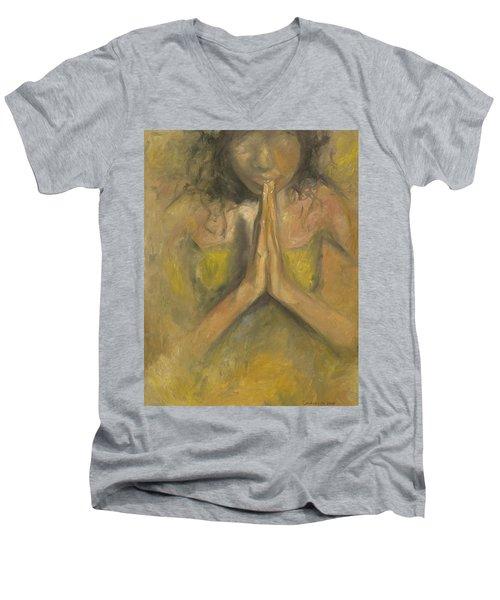 The Power Of Prayer - Blind Faith Men's V-Neck T-Shirt