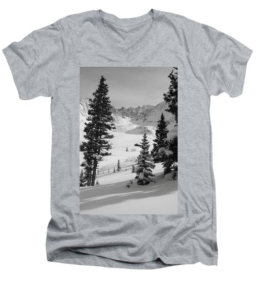 The Quiet Season Men's V-Neck T-Shirt by Eric Glaser