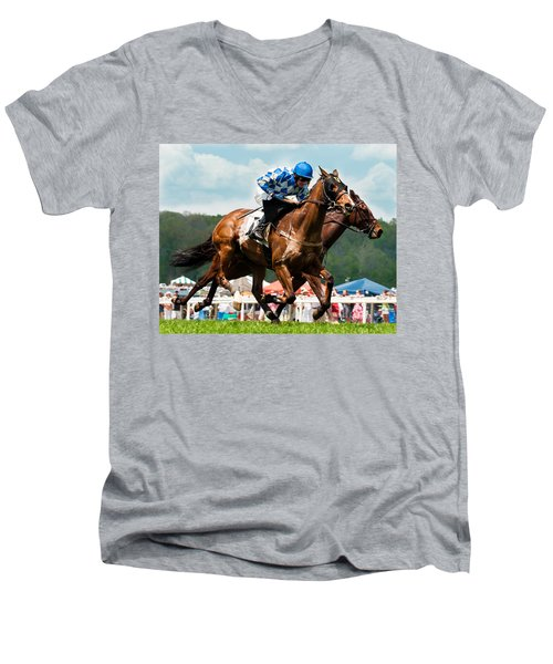 The Race Is On Men's V-Neck T-Shirt