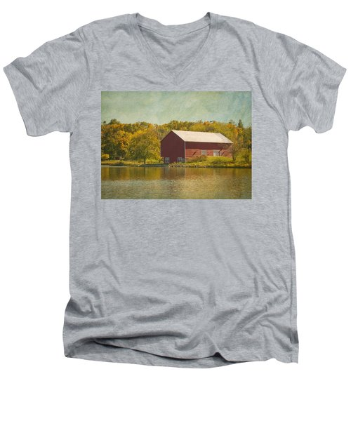 The Red Barn Men's V-Neck T-Shirt