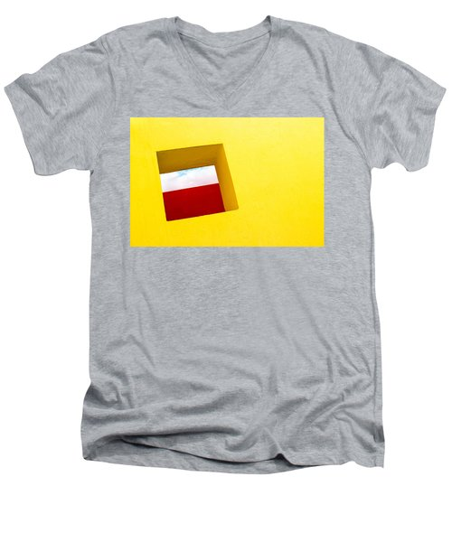 the Red Rectangle Men's V-Neck T-Shirt