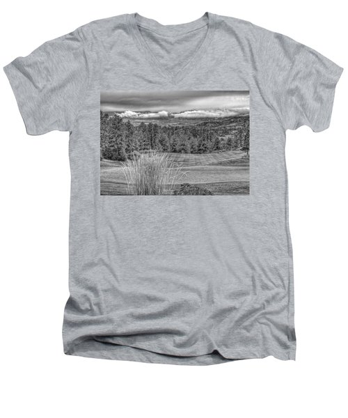 Men's V-Neck T-Shirt featuring the photograph The Ridge 18th by Ron White