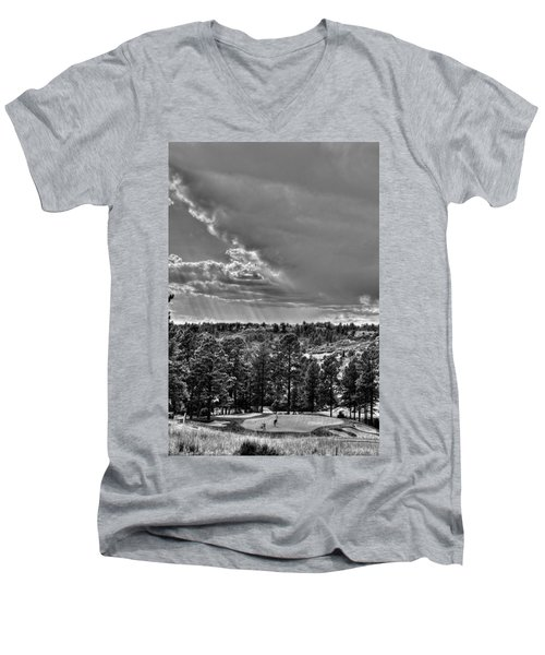 Men's V-Neck T-Shirt featuring the photograph The Ridge Golf Course by Ron White