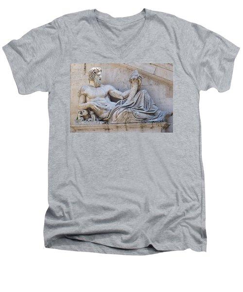 The Tiber Men's V-Neck T-Shirt