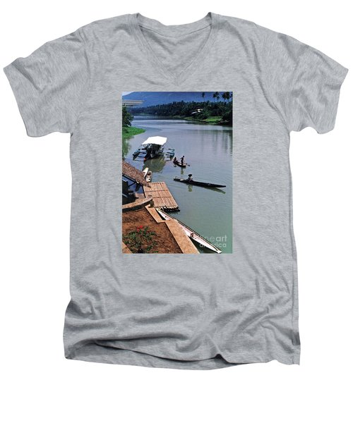 The River Leading To Pagsanjan Falls In The Philippines Men's V-Neck T-Shirt by Jim Fitzpatrick