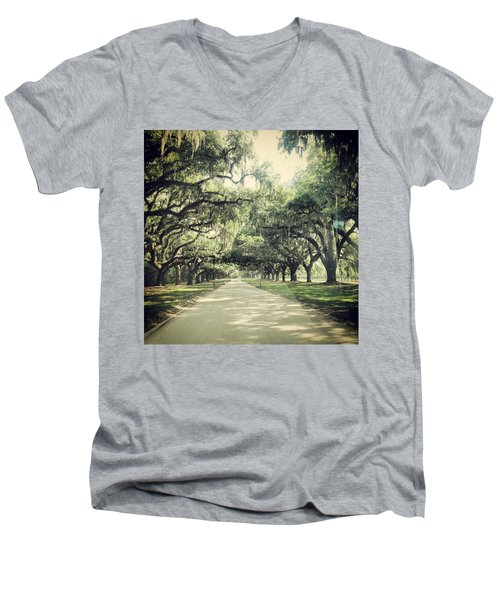 The Road From Boone Hall Men's V-Neck T-Shirt