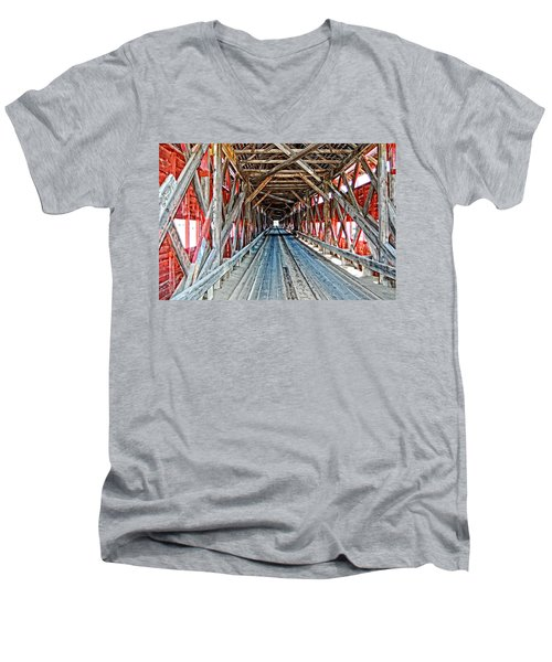 The Road Less Traveled Men's V-Neck T-Shirt by Bianca Nadeau