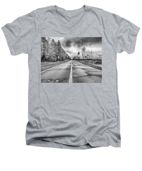 The Road Less Traveled Men's V-Neck T-Shirt by Howard Salmon