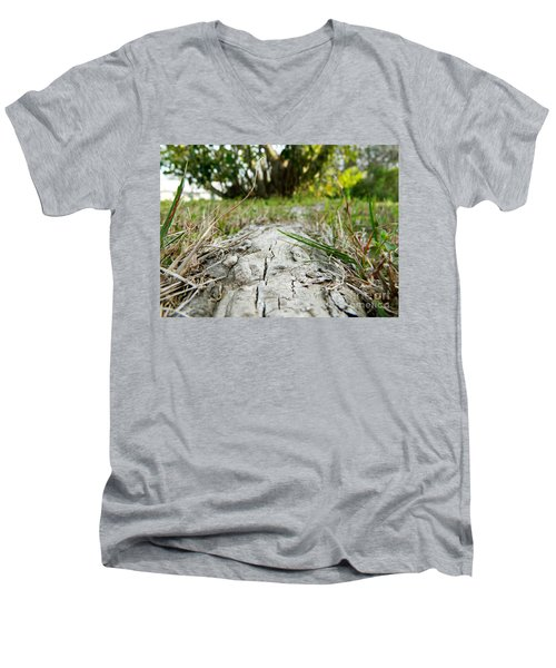 The Root Of Happiness Men's V-Neck T-Shirt