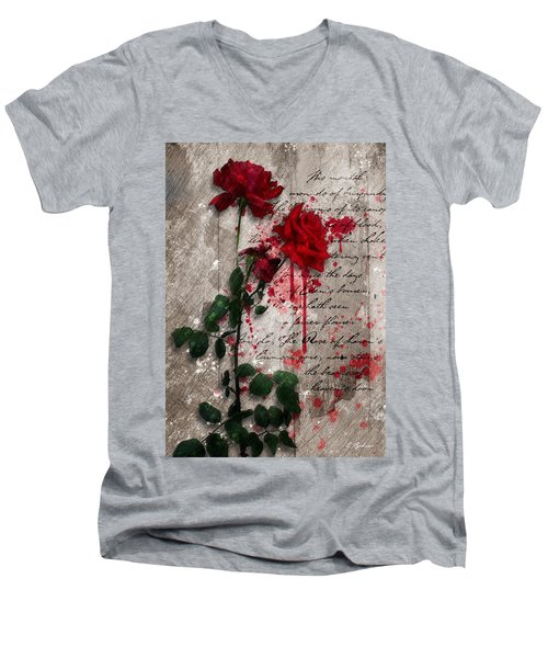 The Rose Of Sharon Men's V-Neck T-Shirt by Gary Bodnar