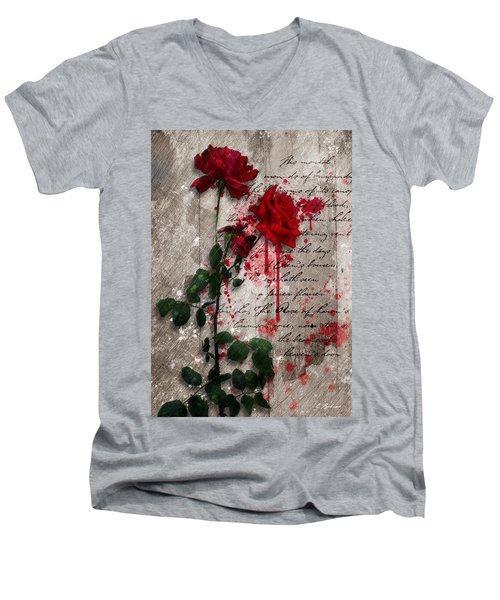 The Rose Of Sharon Men's V-Neck T-Shirt