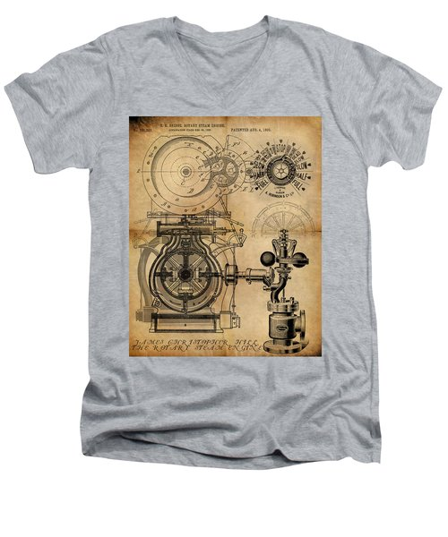 The Rotary Engine Men's V-Neck T-Shirt