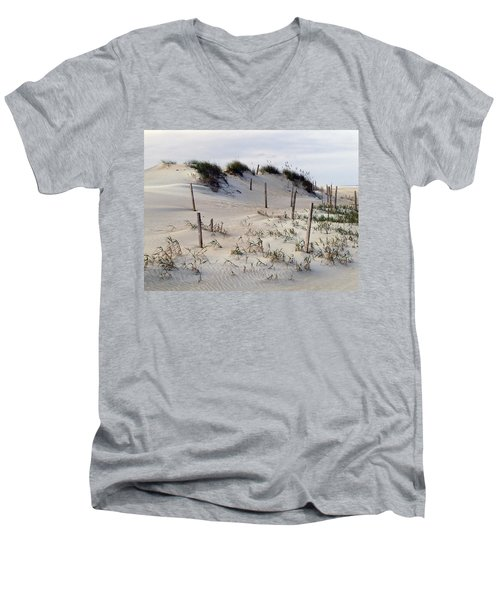 Men's V-Neck T-Shirt featuring the photograph The Sands Of Obx by Greg Reed