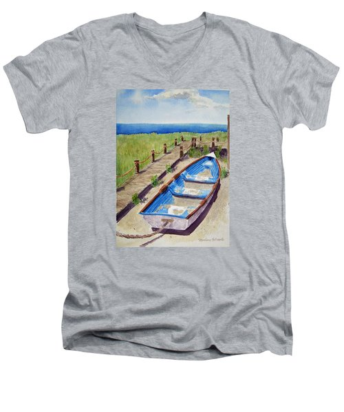 The Sandy Boat Men's V-Neck T-Shirt