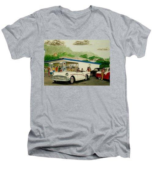 The Shake Shoppe Portsmouth Ohio 1960 Men's V-Neck T-Shirt by Frank Hunter