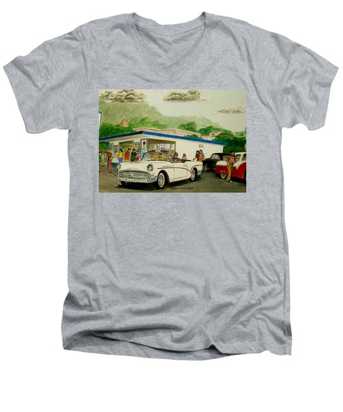 The Shake Shoppe Portsmouth Ohio 1960 Men's V-Neck T-Shirt