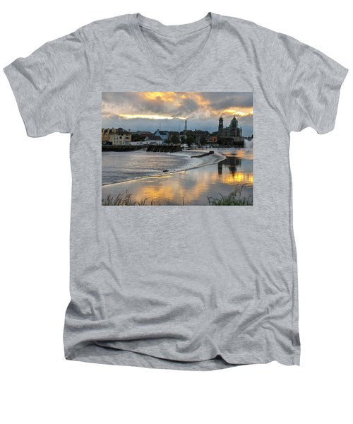 The Shannon River Men's V-Neck T-Shirt
