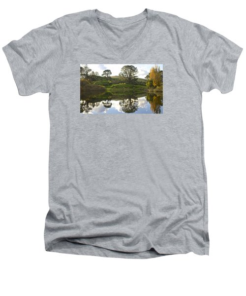 The Shire Middle Earth Men's V-Neck T-Shirt by Venetia Featherstone-Witty