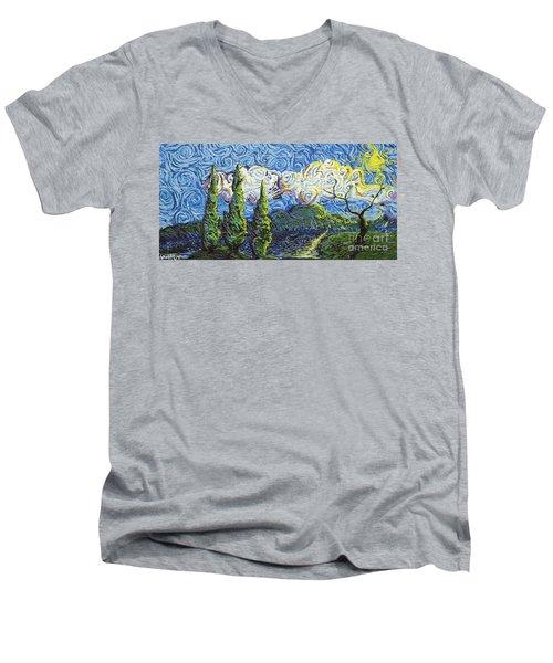 The Shores Of Dreams Men's V-Neck T-Shirt