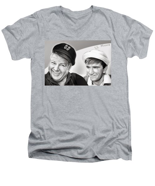 The Skipper And Gilligan Men's V-Neck T-Shirt