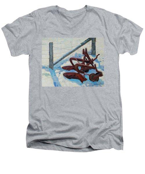 The Snow Plow Men's V-Neck T-Shirt