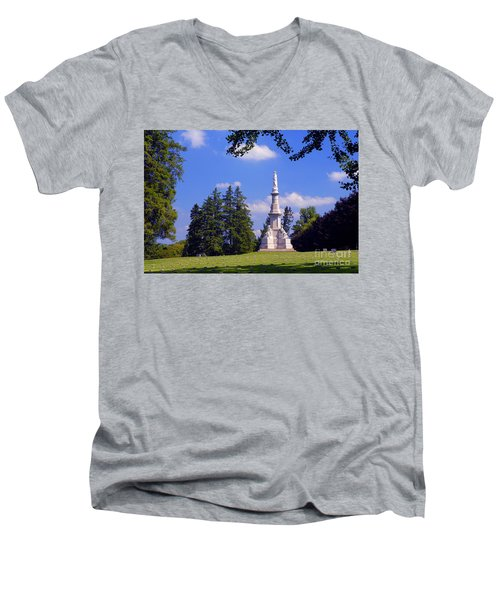 The Soldiers Monument Men's V-Neck T-Shirt
