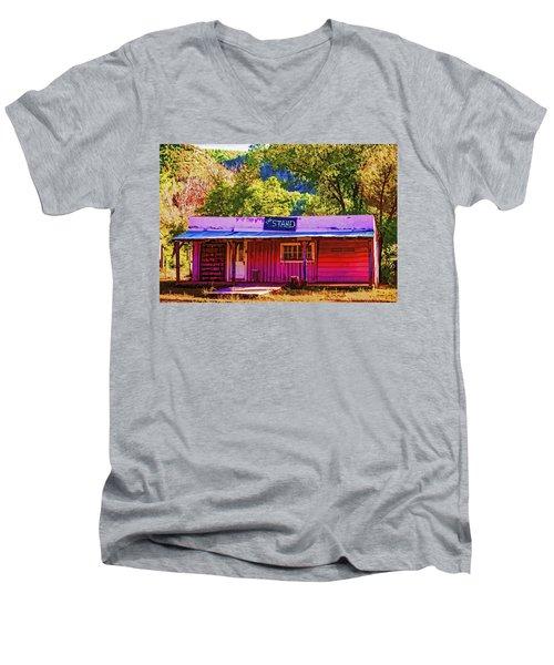 The Stand Men's V-Neck T-Shirt by Muhie Kanawati
