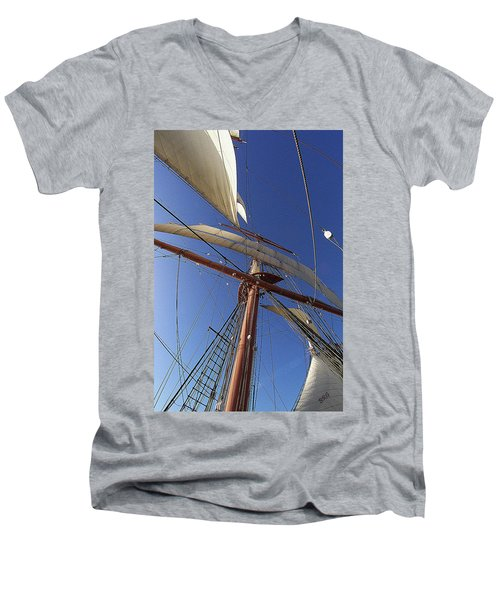 The Star Of India. Mast And Sails Men's V-Neck T-Shirt