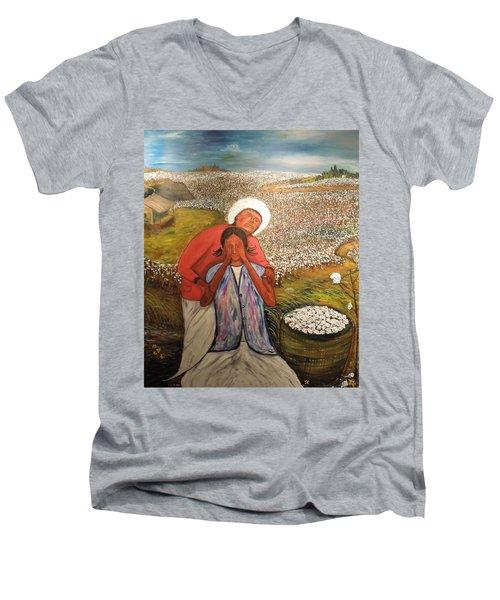 The Strength Of Grandma Men's V-Neck T-Shirt