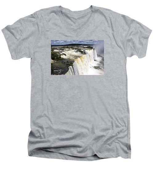 The Stunning Falls Of Iguacu Brazil Side Men's V-Neck T-Shirt