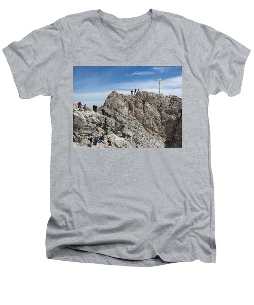 Men's V-Neck T-Shirt featuring the photograph The  Summit - 1 by Pema Hou