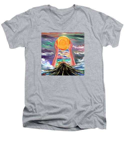 The Sun Will Shine Again Men's V-Neck T-Shirt