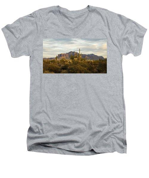 The Superstition Mountains Men's V-Neck T-Shirt