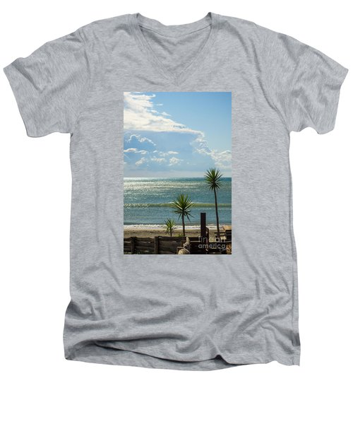 The Three Palms Men's V-Neck T-Shirt