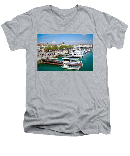 The Town And Port Of La Rochelle Men's V-Neck T-Shirt