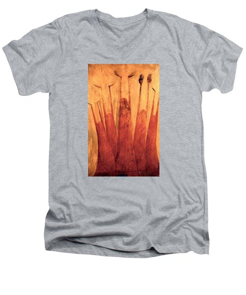 The Tree Of Weeping Men's V-Neck T-Shirt