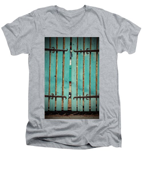 The Turquoise Gate Men's V-Neck T-Shirt by Holly Blunkall