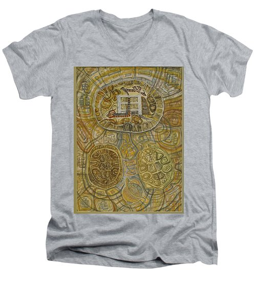 The Turtle Snake Men's V-Neck T-Shirt