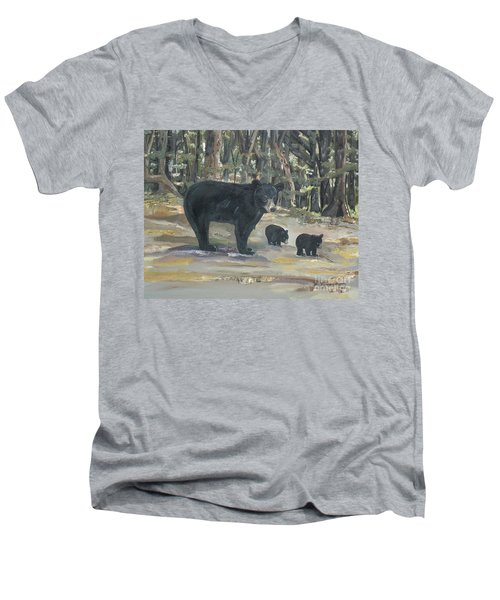 Cubs - Bears - Goldilocks And The Three Bears Men's V-Neck T-Shirt
