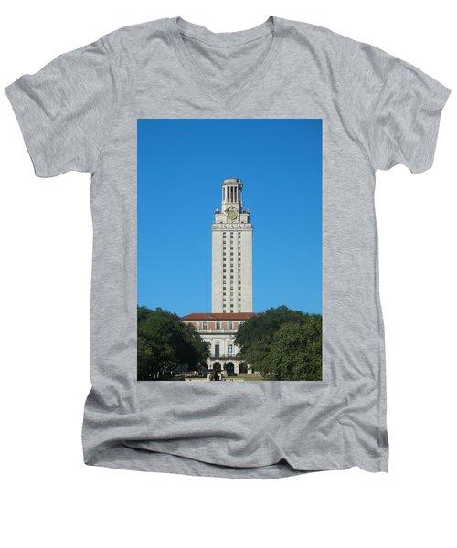 The University Of Texas Tower Men's V-Neck T-Shirt