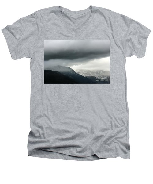Men's V-Neck T-Shirt featuring the photograph The Valley by Dana DiPasquale