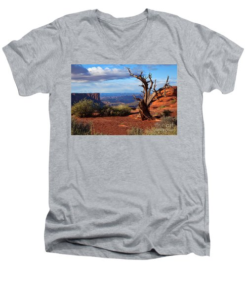 The Watchman Men's V-Neck T-Shirt by Jim Garrison