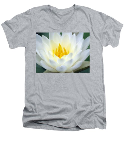 Men's V-Neck T-Shirt featuring the photograph The Water Lilies Collection - 05 by Pamela Critchlow